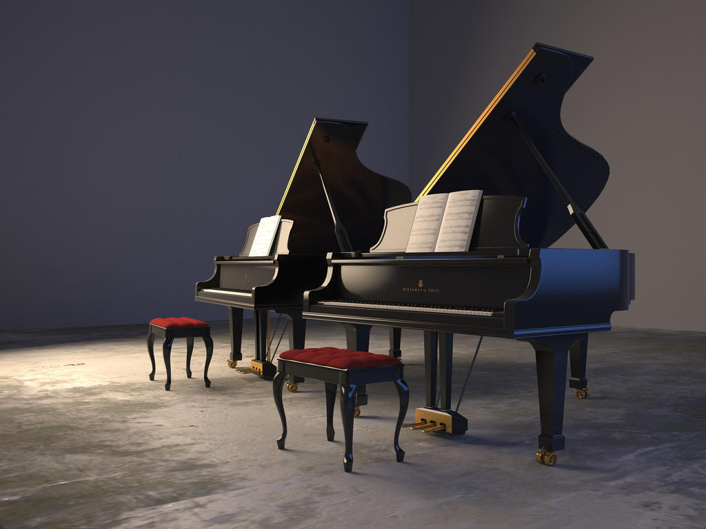 5 pianos 25 pianists onstage during pianissimo concerts for How big is a baby grand piano