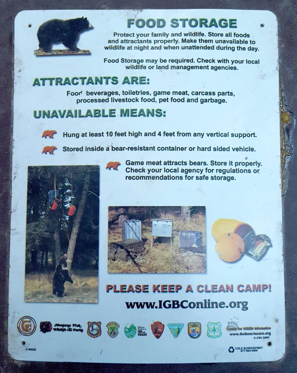 Bear Safe Food Storage Methods.