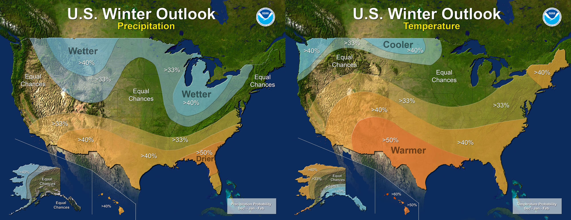 NOAA Predicts Winter Is Going to Be Warmer Than Usual for Most of the United States NOAA Predicts Winter Is Going to Be Warmer Than Usual for Most of the United States new picture