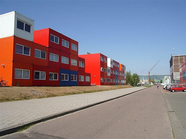 Shipping containers as student housing