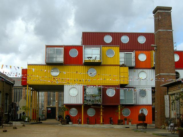 Shipping containers as live/work artist housing