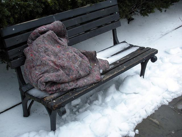 Homeless in winter