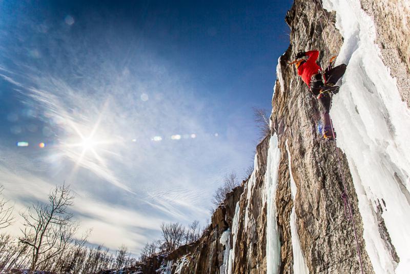 """Lucas Kramer climbs at """"Casket Quarry"""""""