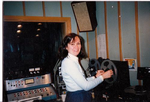 Laura Erickson at KUMD circa 1987