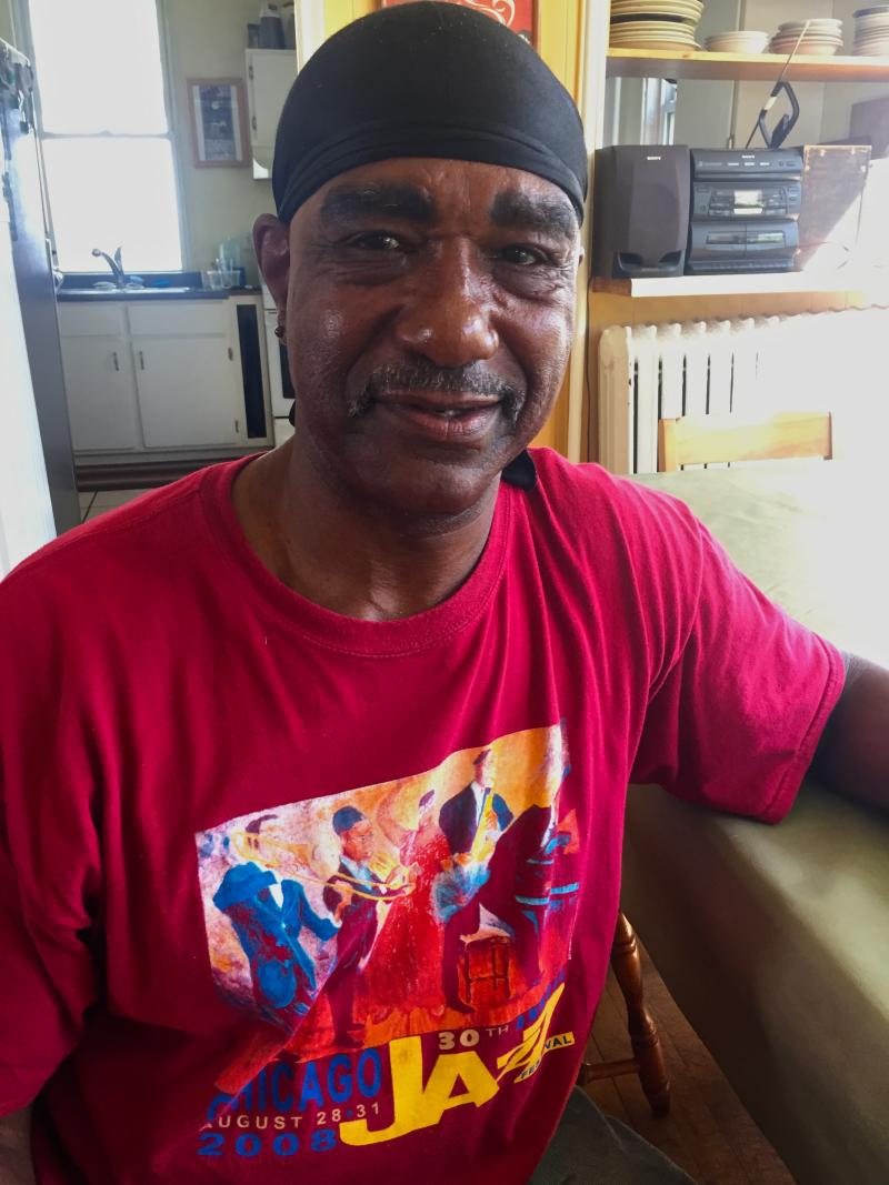 Adrian Greene came to the Dorothy House pretty much everyday to cook. He would like to see the governemnt is going to take advantage of  abandoned buildings and provide them to low income groups.