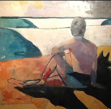 Bob Pokorney Mexico Figure 1 2015 Oil on Board 48 x 48