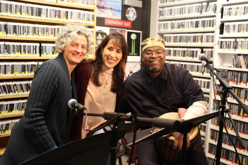 Sara Thomsen, Maggie Wheeler, and emile Hassan Dyer