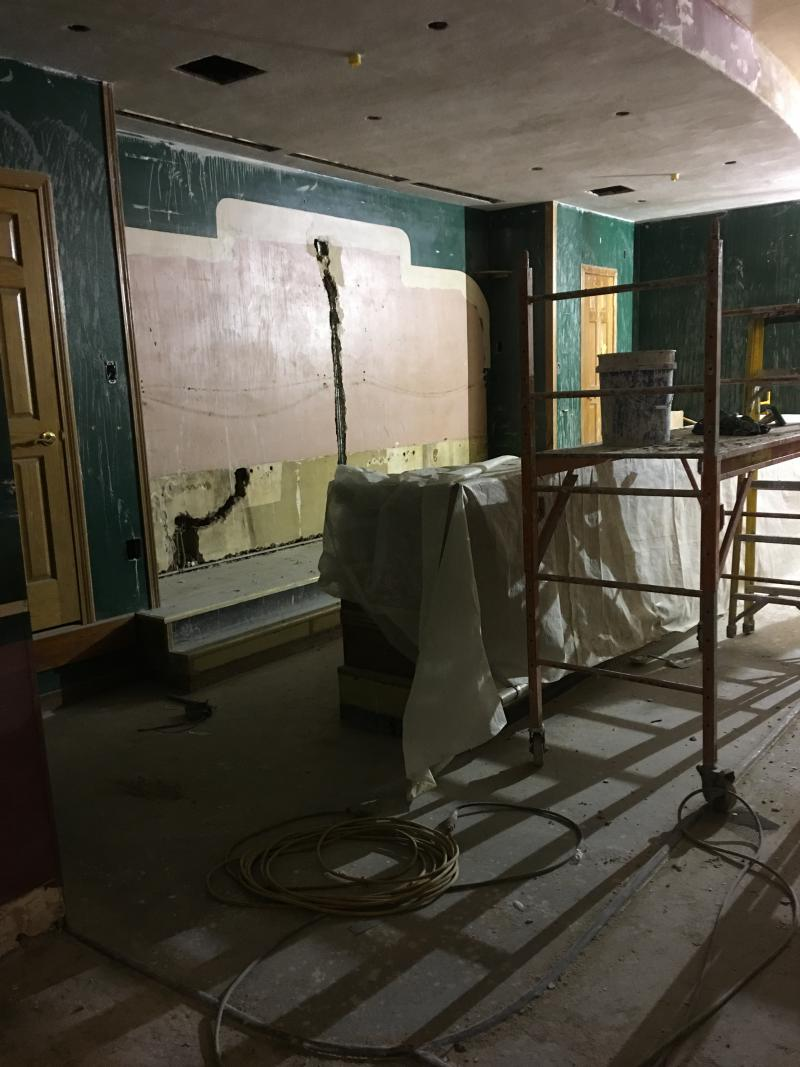 The Art Deco concession stand will be restored