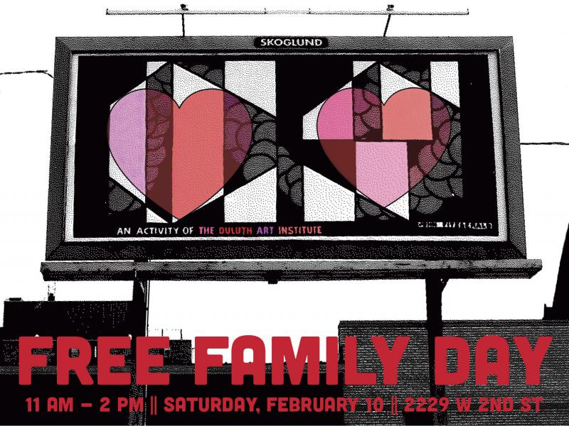Free Family Day, Duluth Art Institute, February 10, 11am-2pm