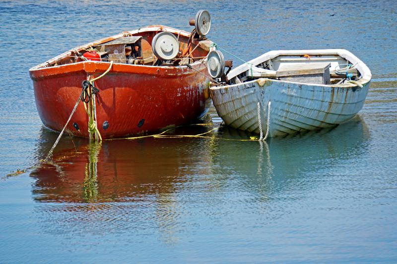 2 fishing boats in the water