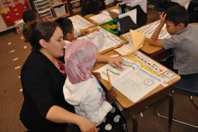 Teacher/student interaction is vital to the Newcomer program.