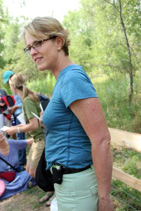 Susan Buhr Sullivan, director of outreach for the Cooperative Institute for Research in Environmental Sciences at the University of Colorado Boulder, wears a CairClip her belt.