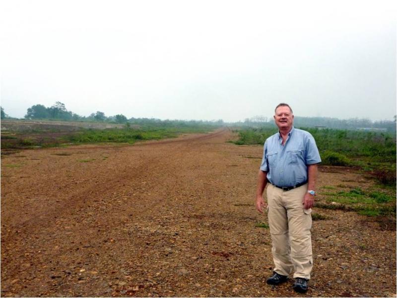 Allerheiligen took soil samples from Khe Sanh, Vietnam. It's one of 90 that will be included in the garden.