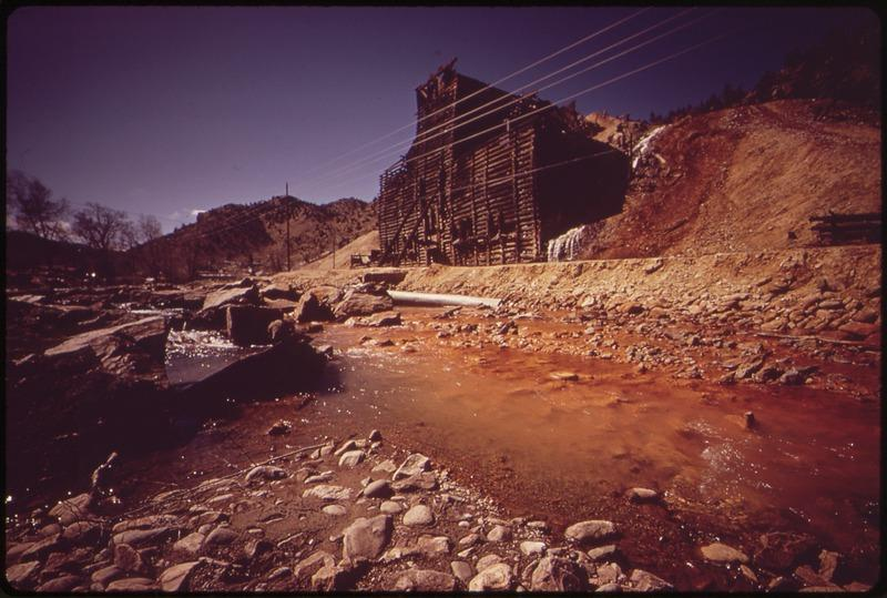 Water poluted by high mineral content flows from the abandoned Argo Mine near Idaho Springs.