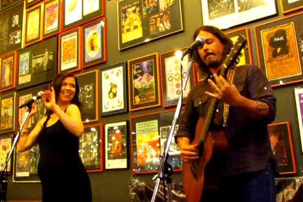 Screencap from youtube.com of the Civil Wars at Twist & Shout