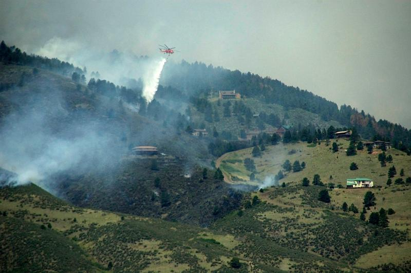 The High Park Fire has destroyed a total of 259 homes. This photo was taken on June 11th.