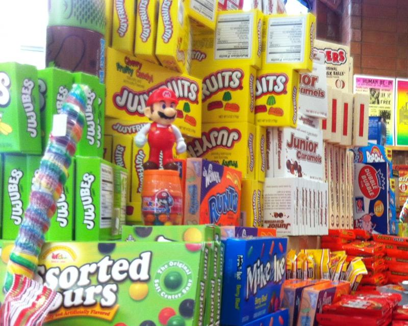 2,000 different types of candy can be found at the Rocket Fizz Soda Pop and Candy Shop in Denver.