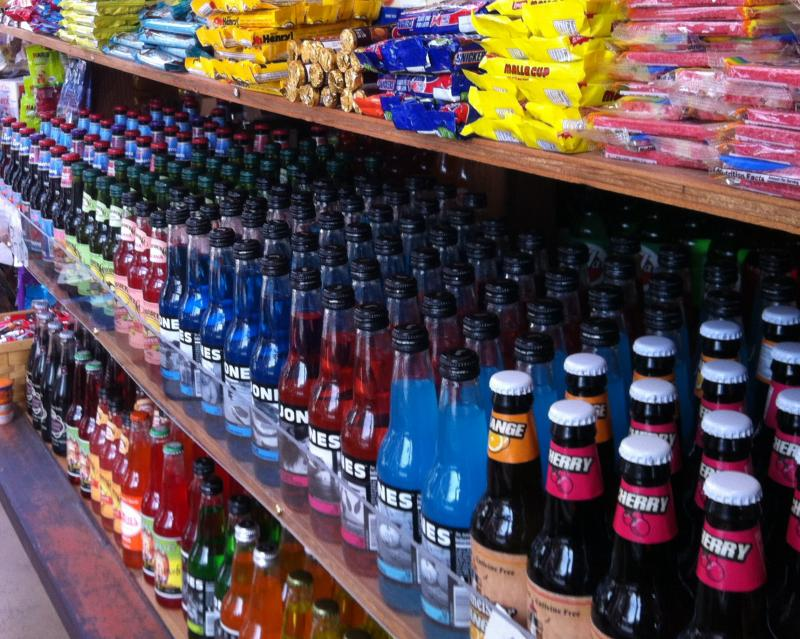 Over 500 sodas and 2,000 different types of candy can be found at Rocket Fizz.