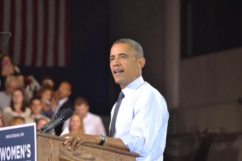 President Obama campaigning in Denver this month.