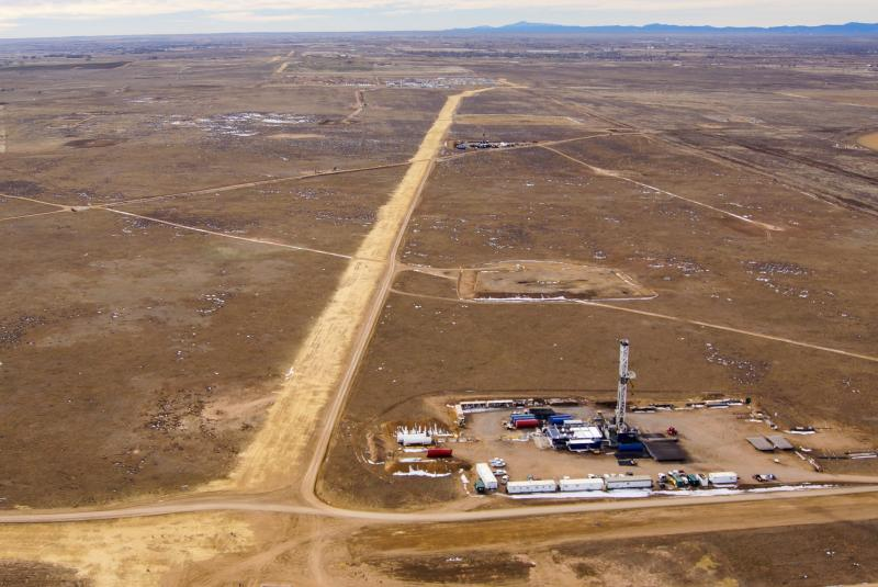 A Drilling operation in Weld County, Colo.