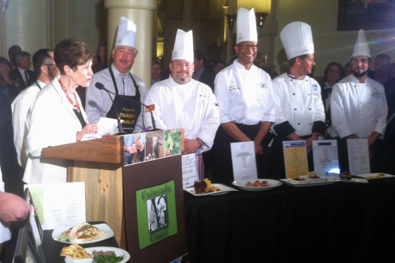 The Colorado Agriculture Council teamed up with some of the state's chefs for a 'Farm to Fork' cooking competition. Dishes included a range of in-state farming products like honey, wheat, buffalo and potatoes