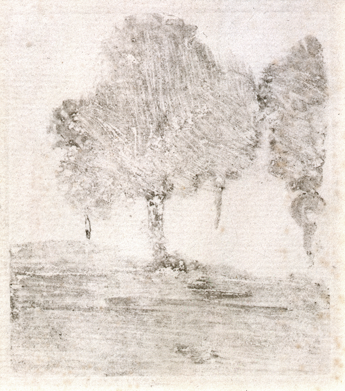This Degas work of two trees was purchased by Robert Flynn Johnson in 1973. It was the first of many Degas' he would collect over the next forty years.