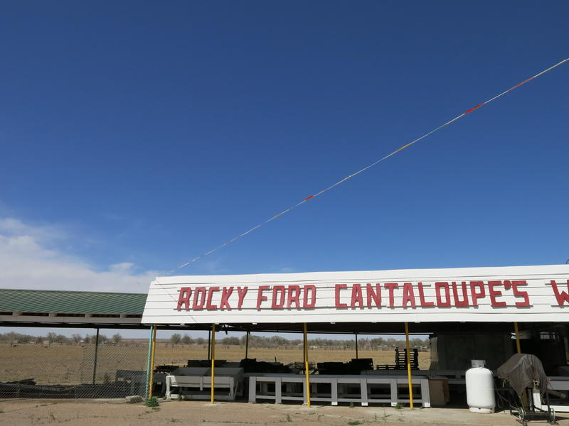 Cantaloupe roadside stand in Rocky Ford