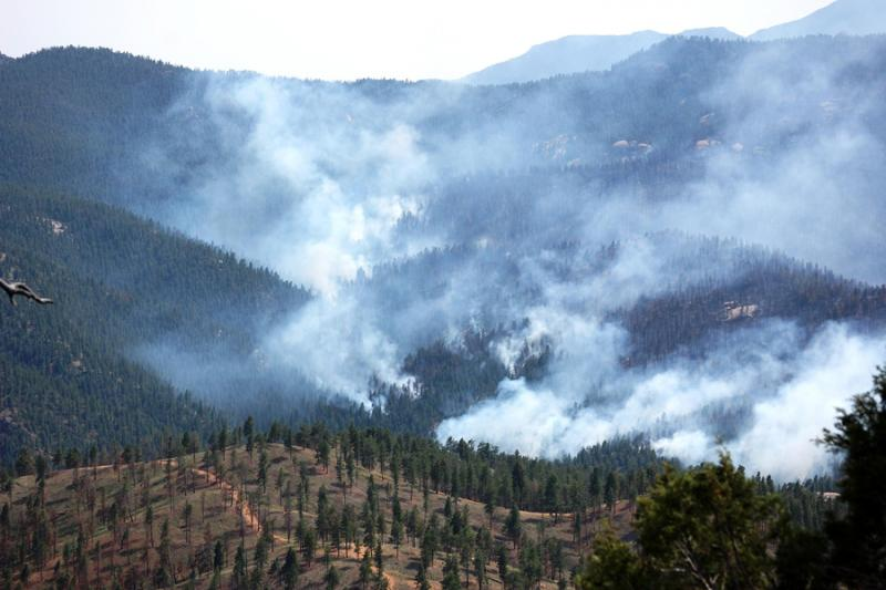 The Lime Gulch Fire, a view of the southwest and west Platte River valleys taken June 21