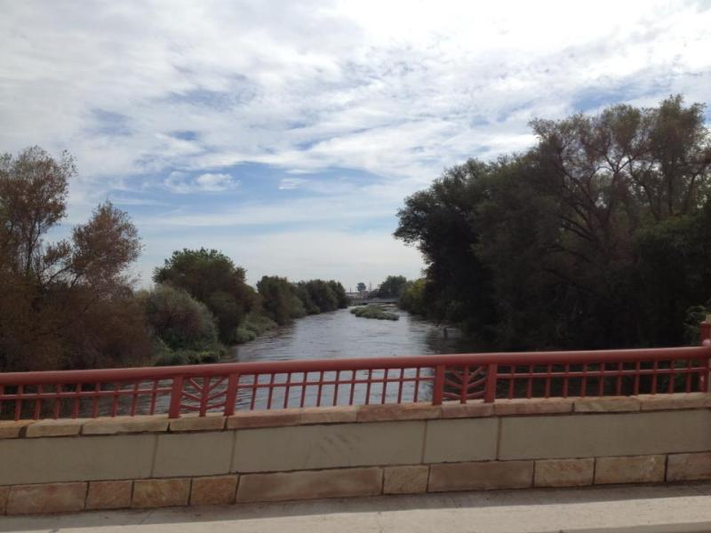 A view of the Poudre River on 11th Ave in Greeley, Saturday Sept. 14.