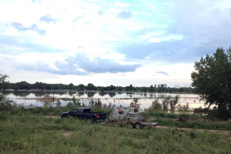 Flooding of the Platte on the east side of Greeley Sept. 13, sent in by a KUNC member.