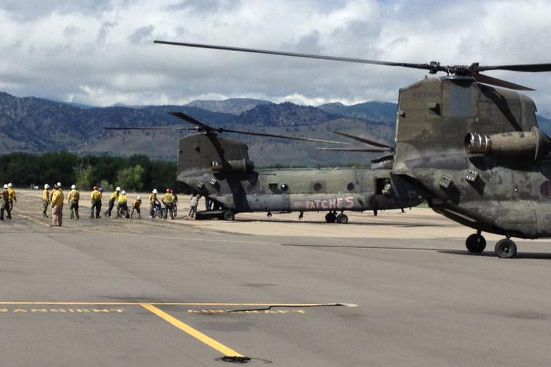 Pinewood Springs evacuees land in Boulder, Colo., Sept. 16.