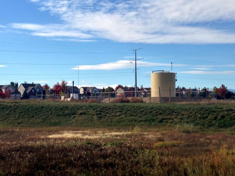 A well near Trail Ridge Middle School in Longmont, Colorado.