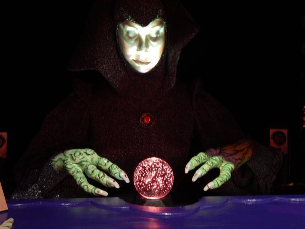 """Alien Fortune Teller is among 175 works Pamela Joseph created for """"Sideshow of the Absurd."""""""