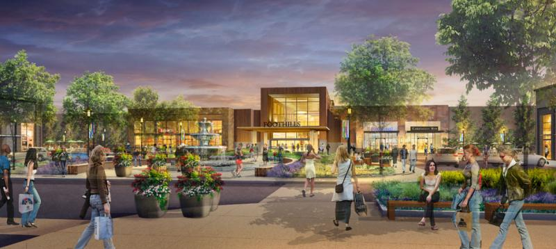 Rendering of what the redeveloped Foothills Mall will look like.