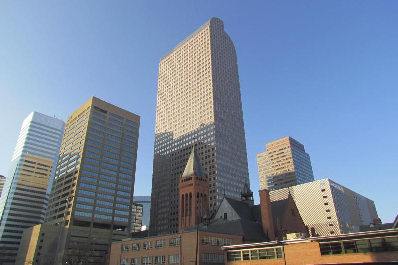 Wells Fargo Center, one the most recognizable features of the Denver skyline.