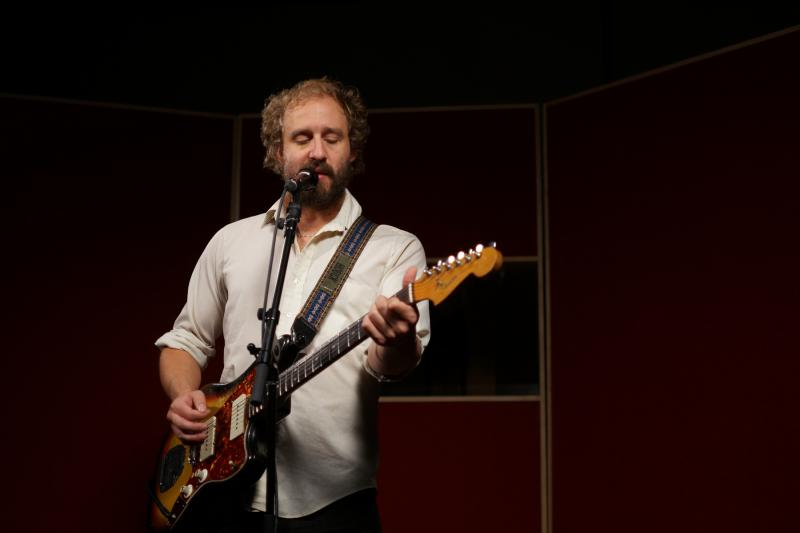 Matthew Houck, the driving force behind Phosphorescent, performing at the eTown recording studios, Oct., 2013.