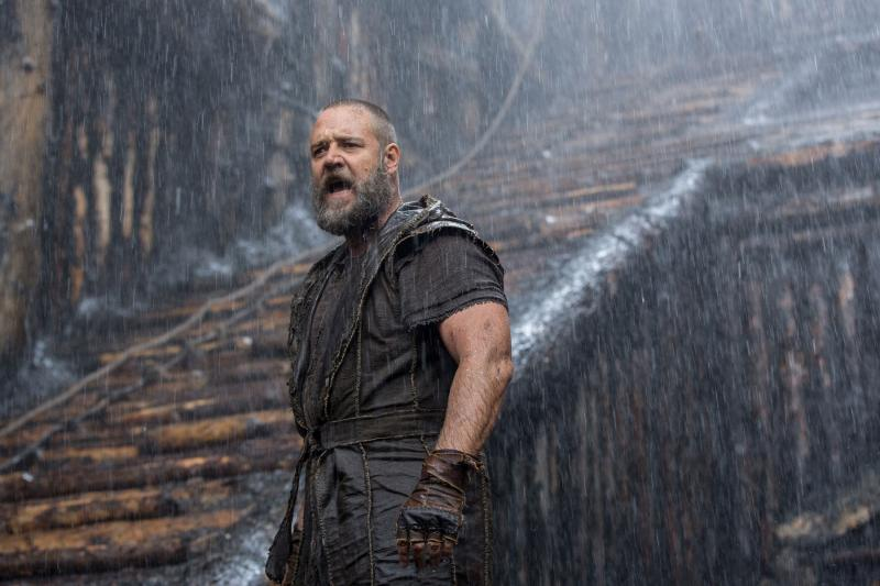 Russell Crowe play's Noah in Darren Aronofsky's latest film of the same name.