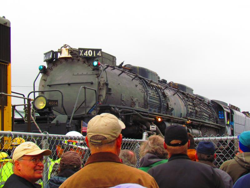 Union Pacific's No. 4014 'Big Boy' arrives in Cheyenne, Wyoming.