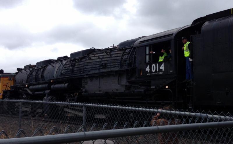 Union Pacific's 4014 'Big Boy' steam locomotive in Cheyenne, Wyoming.