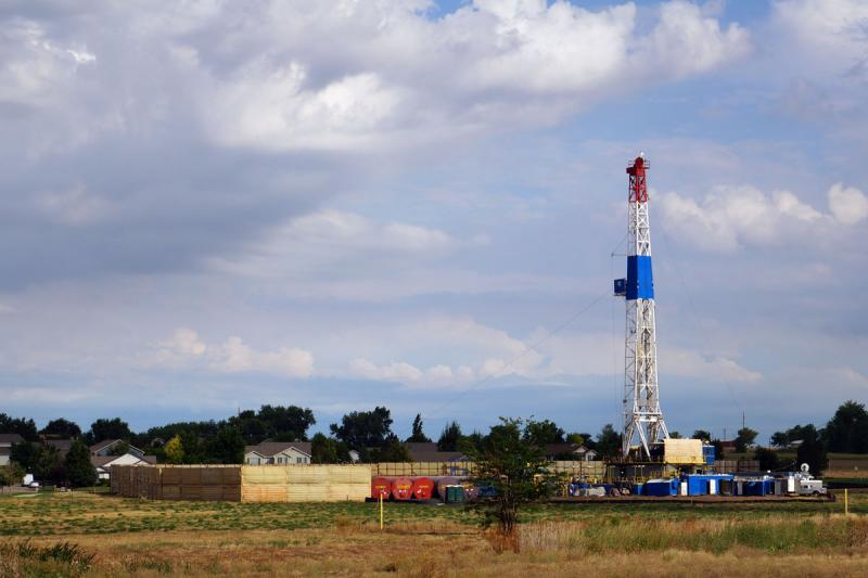A drilling operation near Frederick, Colo., August, 2013.