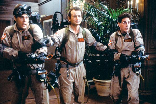 Dan Aykroyd, Bill Murray and Harold Ramis in 'Ghostbusters.'