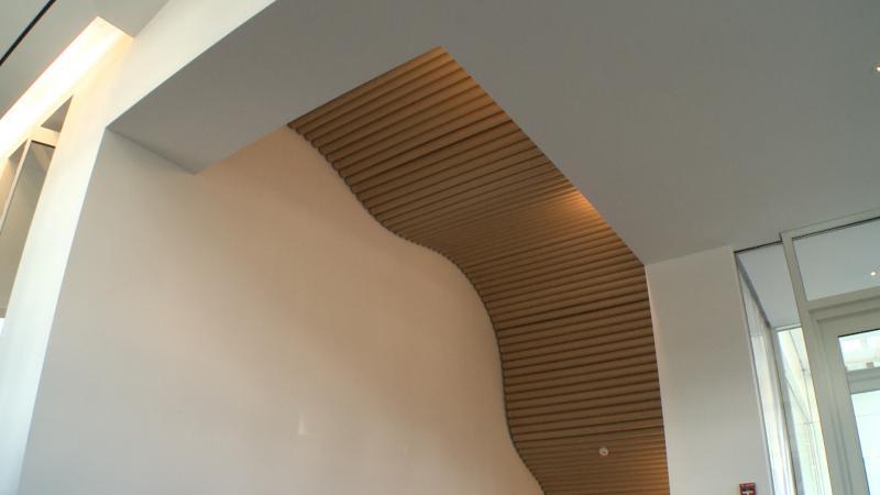 Architectural detail work at the Aspen Art Museum, designed by 2014 Pritzker Prize winner Shigeru Ban.