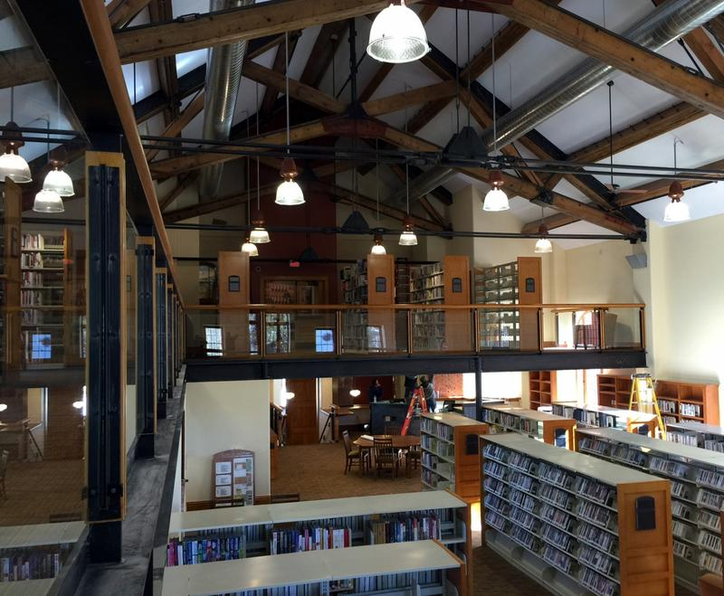 The main reading room of the new South Branch Library in Breckenridge is housed in a restored 1909 school building.