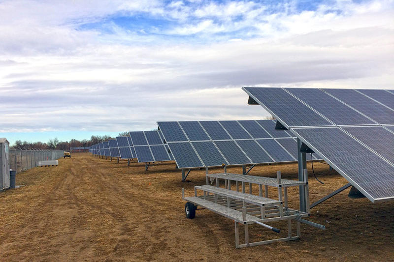The new solar garden Clean Energy Collective built for Poudre Valley REA.