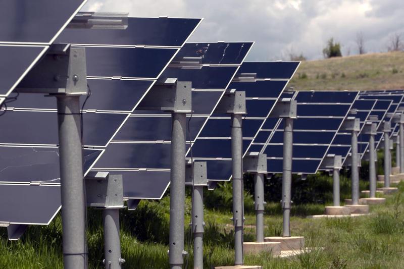 A solar farm in Colorado.