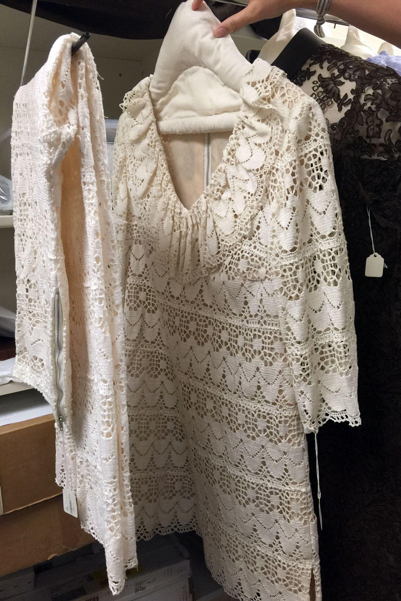 A lace pantsuit from the 1970s