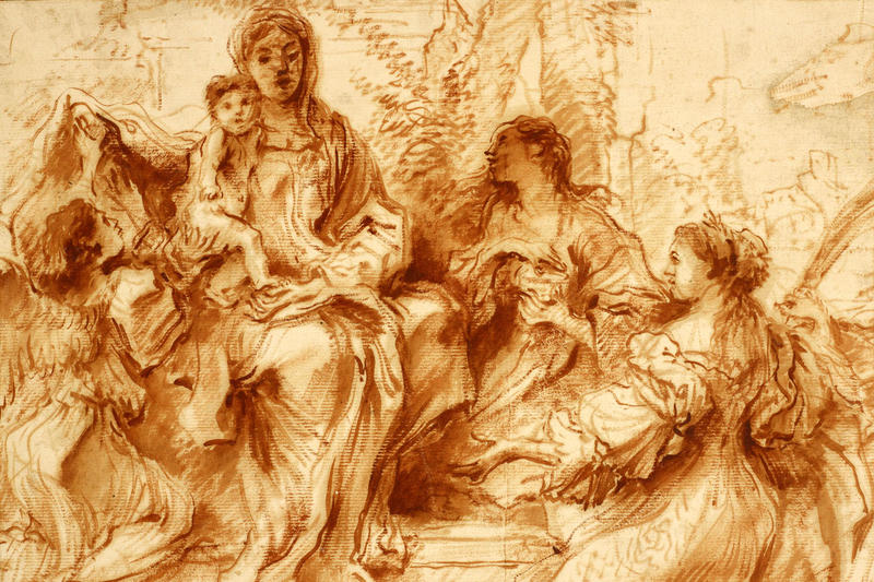'The Virgin and Child with Saints Catherine and Mary Magdalene'