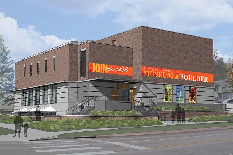 A rendering of plans for the new Museum of Boulder.