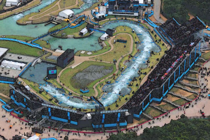 A rendering of Go NoCO's U.S. Whitewater Adventure Park.