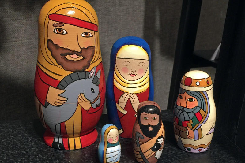 From Russia, a set of Matrushka nesting dolls